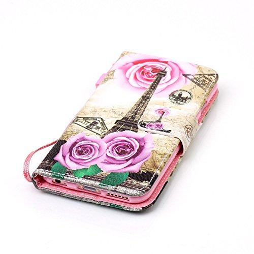 Para Smartphone Apple Iphone 6(4.7pulgadas) funda de piel para Apple iPhone 6(4.7pulgadas) Flip Cover Funda Libro Con Tarjetero Función Atril magnético + Polvo Conector azul 1 10