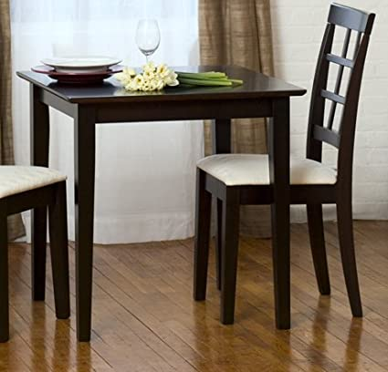 Carey Square Dining Table   30x30 Inches Cappuccino (No Chairs)