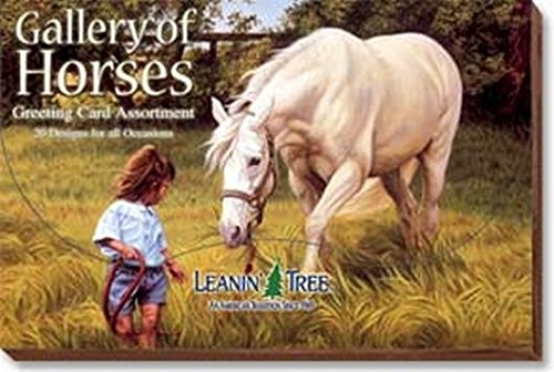 Box Tree Gallery (Gallery of Horses - Greeting Card Assortment by Leanin' Tree (AST90611) - 20 cards with full-color interiors and 22 designed envelopes)