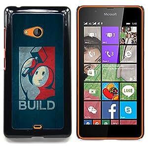For Microsoft Nokia Lumia 540 N540 - Build - Retro Poster /Modelo de la piel protectora de la cubierta del caso/ - Super Marley Shop -