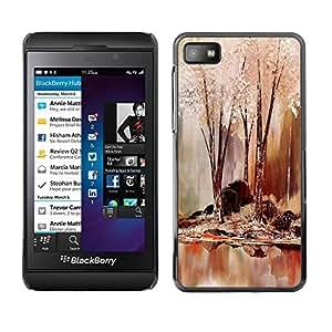 Smartphone Rígido Protección única Imagen Carcasa Funda Tapa Skin Case Para Blackberry Z10 Nature Beautiful Forrest Green 64 / STRONG