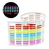 HOUTBY 45 x 11cm Sound Music Activate Sensor Car Sticker LED Light Equalizer Glow Strip Lamp