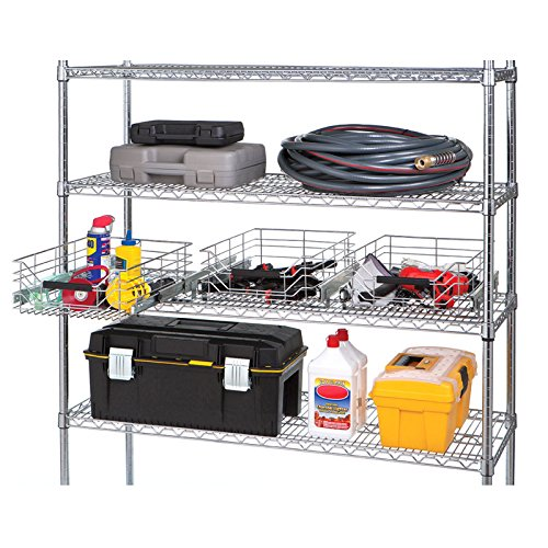 Seville Classics Pull-Out Sliding Steel Wire Cabinet Organizer Drawer, 14