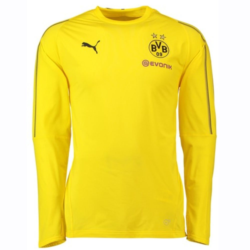 Puma 2018-2019 Borussia Dortmund Training Sweat Top (Yellow) - Kids