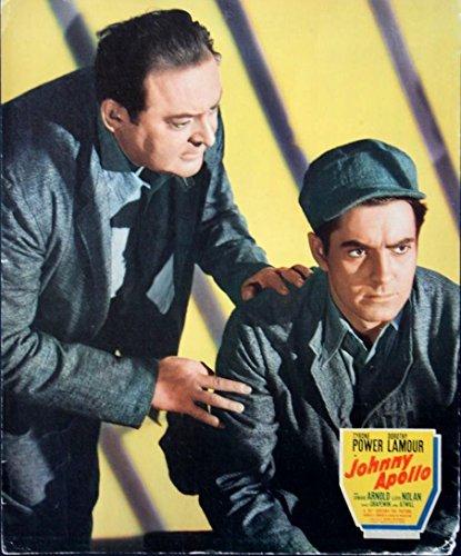 JOHNNY APOLLO (1940) Jumbo lobby card feat. Power, Arnold film noir crime drama (Card Feat)