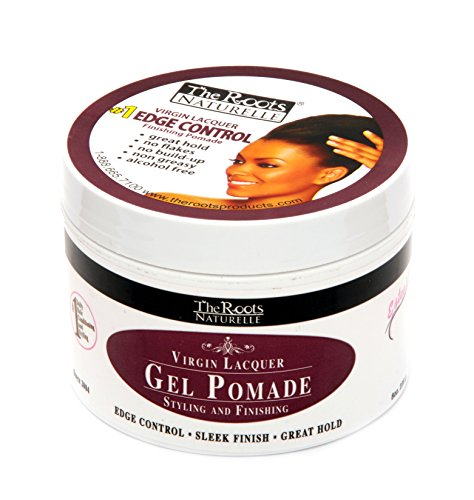 Wave Control Pomade - The Roots Naturelle Virgin Lacquer Gel Pomade For Edge Control (8 oz Jar)