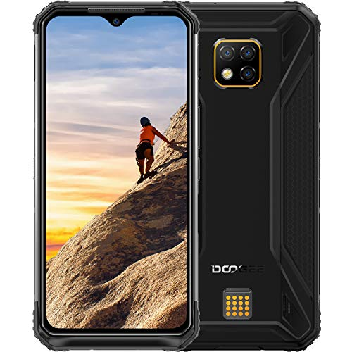 "Rugged Cell Phone DOOGEE S95 Unlocked Smartphones (2020) Helio P90 48MP Triple Rear Camera 6GB RAM+128GB ROM 5150mAh IP68 Waterproof Dropproof Dust Proof 6.3"" FHD+ NFC Cell Phone"