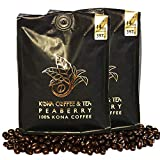 Peaberry (2-14oz Bags) - 100% Kona Coffee : FIRST PLACE WINNER 2018 Kona Coffee Cultural Festival's Crown Division • Single Estate • 2-Day FedEx