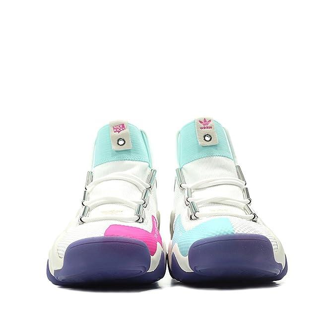 outlet store 8b4fe 7369b Amazon.com  adidas Consortium x Nice Kicks Men Crazy 8 AD (WhiteOff  WhiteEnergy Aqua)  Basketball