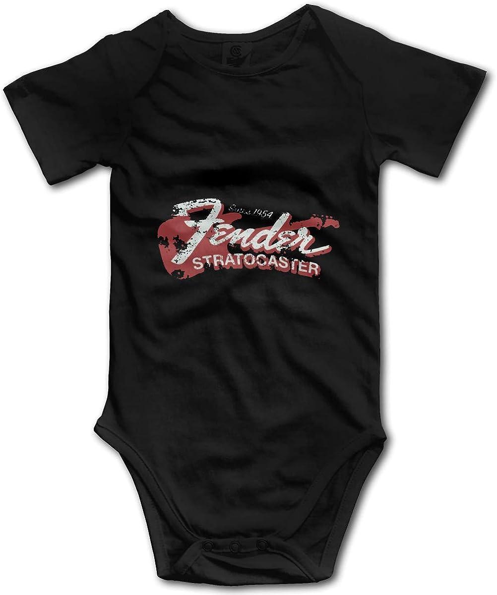 WlQshop Bodysuit Infant Fender Since 1954 Strat Short Sleeve Onesie Jumpsuit Romper for Baby Boys Girls