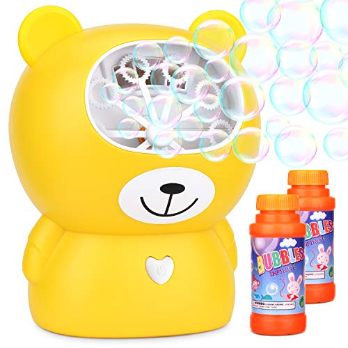 BATTOP Bubble Machine Electronic Bubble Maker with Impressive Output for Kids Party Powered by Charging Two Bubble Blowing Speed Levels