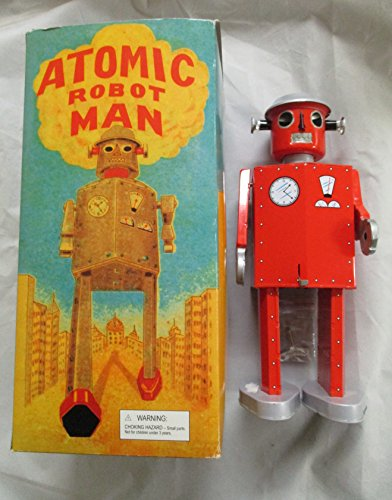 2003 Atomic Robot Man Wind Up Toy RED 12