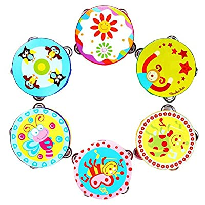 Handbells toy ,BeautyVan Kid New Gift Jingle Percussion Hand Bell Tambourine Musical Instrument Toy: Kitchen & Dining