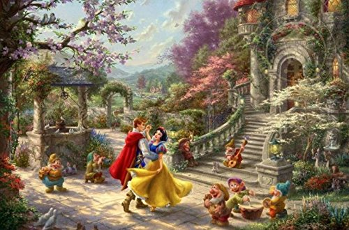 """Ceaco 750 Piece Thomas Kinkade The Disney Collection Snow White Sunlight Jigsaw Puzzle, Kids and Adults Multi-colored, 5"""""""