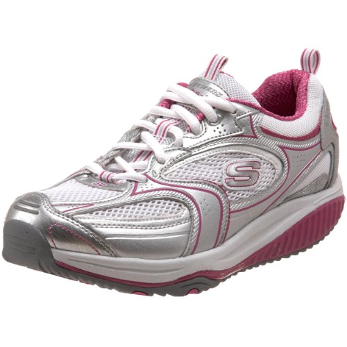 mode Skechers ups Accelerators 1 12320 femme BKSL XF Shape Argent Baskets 0rTqw0