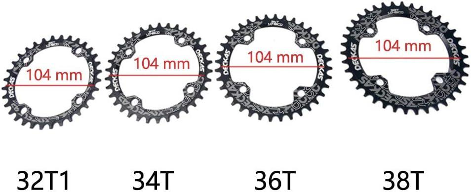 Color 32t 0.02 104, BCD Matedepreso 32T 34T 36T 38T para Bicicleta BMX MTB 12.60 x 3.94 x 3.15inches tama/ño Tama/ño Libre Plato para Bicicleta de Carretera o de monta/ña