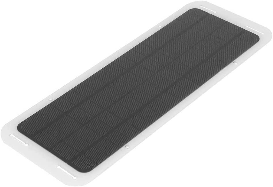 Cocoarm 18V 5W Monokristallines Solar Panel Solar Auto Batterieladeger/ät f/ür Auto Motorrad Schneemobil Traktor