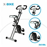 Folding Exercise Bike with 8-Level Magnetic Control System And LCD Display 300lb-Capacity Heavy Duty Compact Stable Upright Cycling machine Stationary Cardio Cycle