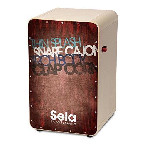 Sela SE 080 Casela Pro Vintage Professional Snare Cajon - Red