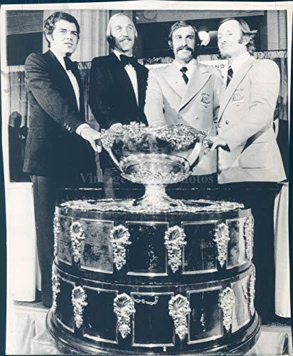 1973 Photo Davis Cup Trophies Vintage Historic Men Beautiful Award Suits 6x8