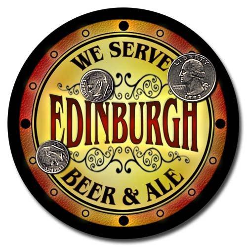 Edinburgh Family Name Beer & Ale Neoprene Coasters - Set 4pcs