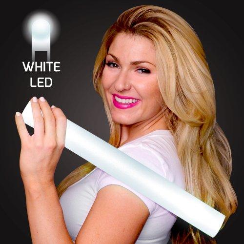 FlashingBlinkyLights White Light Up LED Foam Cheer Sticks (Set of -