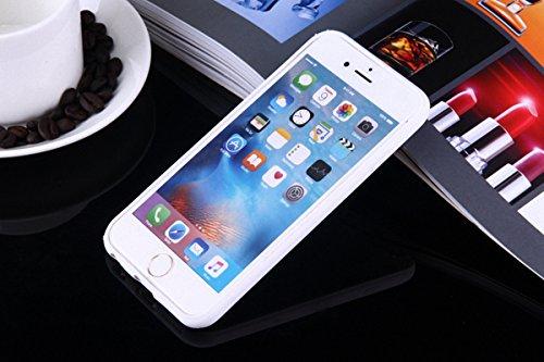 König-Shop Handy Hülle Mandala für Apple iPhone 7 Plus Design Case Schutzhülle Motiv Kreis Cover Silikon Tasche Bumper Weiß