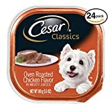 CESAR CANINE CUISINE Wet Dog Food Oven Roasted Chicken Flavor, (Pack of 24) 3.5 oz. Trays