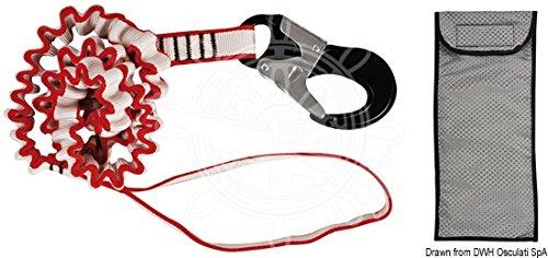 Osculati Elastic Safety Line 2m Snap hook by Osculati