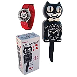 New Classic Vintage Kit-Cat Klock Tailgate Wrist Watch Combo Cat Clock with Free Batteries Made in USA Official Dealer