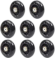 8 Pack Inline Skate Wheels 70mm 82A, 76mm 84A Beginner Roller Blades Replacement Wheel with Pre-Installed Bear