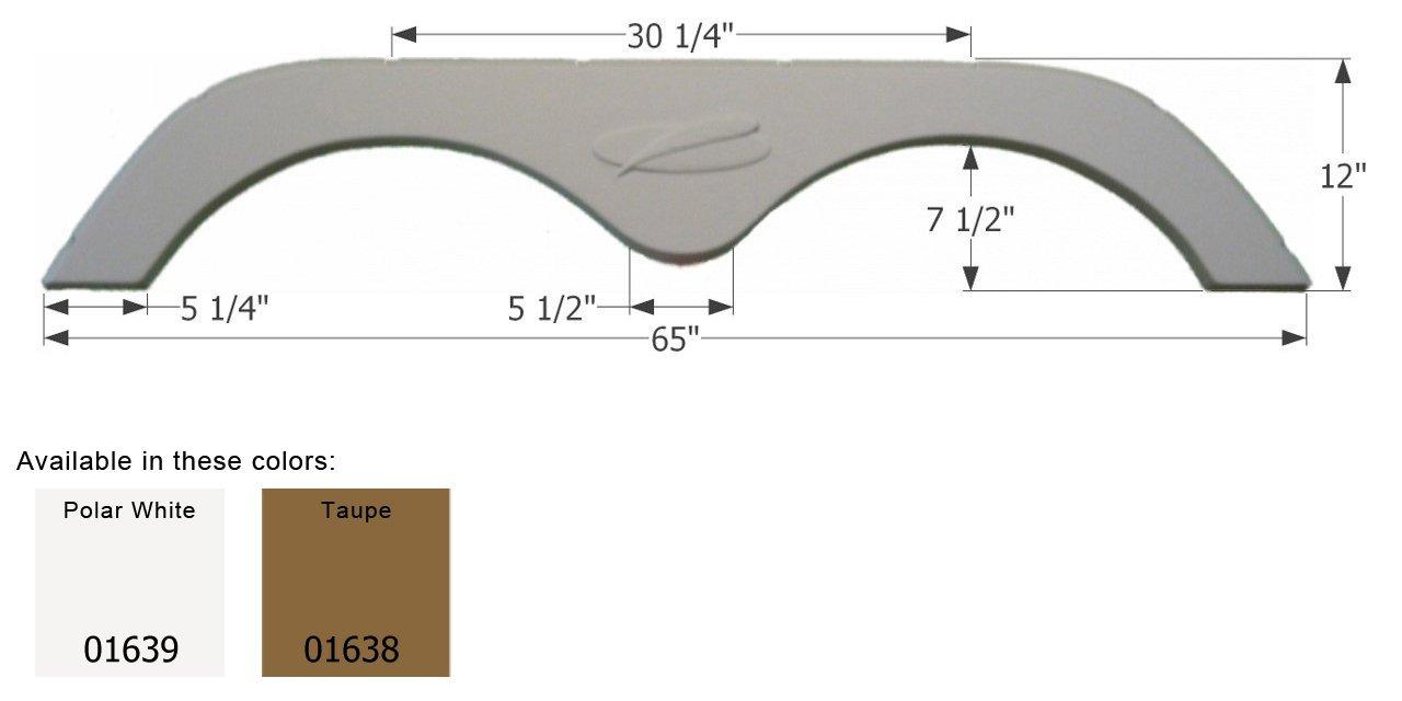 ICON R-Vision Tandem Fender Skirt FS775, Taupe