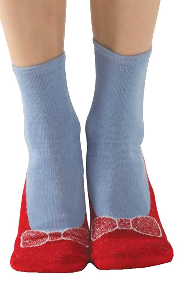 Non-skid Red Slipper Socks by Foot Traffic Women' s size 4-10 SS101