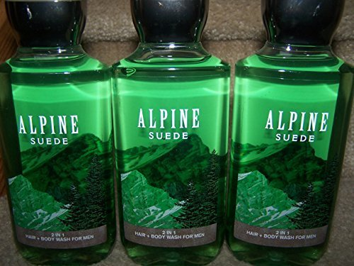 Lot of 3 Bath & Body Works Signature Collection Alpine Suede 2 in 1 Hair & Body Wash 10 fl oz (Alpine Suede)