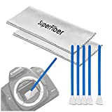 LS Photography Camera Lens Filter Cleaning Kit, 2 Sheets of Gray Cleaning Cloth, 5 Pieces of Digital Camera Sensor Cleaning Swab Stick, Photo Studio, LGG545