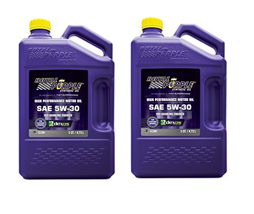 Royal Purple API-Licensed SAE 5W-30 High Performance Synthetic Motor Oil - 5 qt. (Case of 2) by Royal Purple