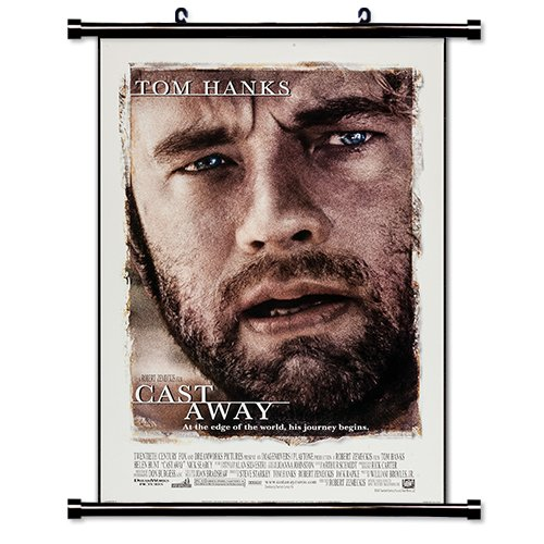 (Cast Away Movie Poster Fabric Wall Scroll Poster (16x23) Inches )