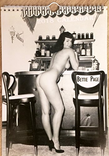 Bettie Page Wall Calendar 2018 Pin Up Glam Sexy Girl Retro Vintage - Retro Vintage Nude