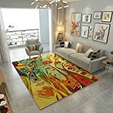 GXQ Abstract Art Carpet Parlor Sofa Tea Table Mat Bedroom Bedside Rug Rectangular Non-slip Washable (Color : B, Size : 120x160cm(47x63inch))