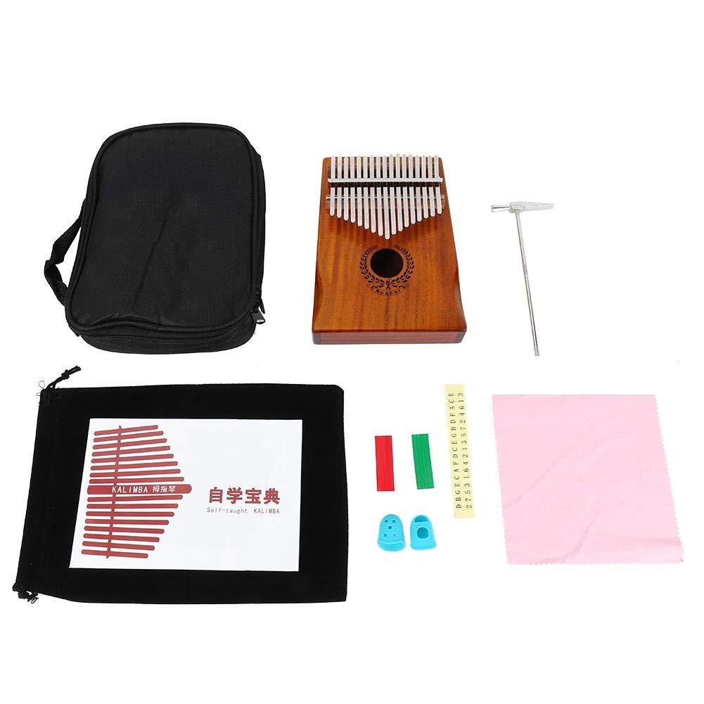 Neufday 17 Keys Thumb Piano ,17 Keys Acacia Wood Kalimba Thumb Piano Beginner Set with Tune Hammer Carry Bag by Neufday