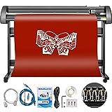 Mophorn Vinyl Cutter 53 Inch Vinyl Cutter Machine 1340mm Vinyl Printer Cutter Machine LCD Display Vinyl Plotter Cutter Machine Signmaster Software Sign Making Machine with Stand