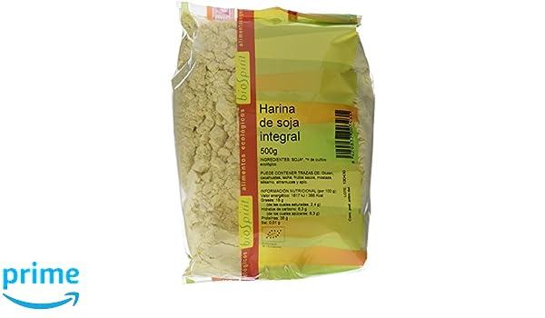 Biospirit Harina de Soja Integral de Cultivo Ecológico - 500 gr: Amazon.es: Alimentación y bebidas