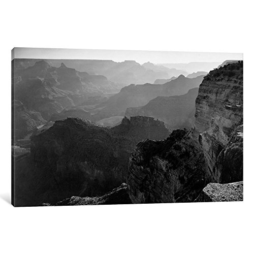 ART AAD6-1PC3-18x12 Grand Canyon National Park I Gallery Wrapped Canvas Art Print by Ansel Adams, 12