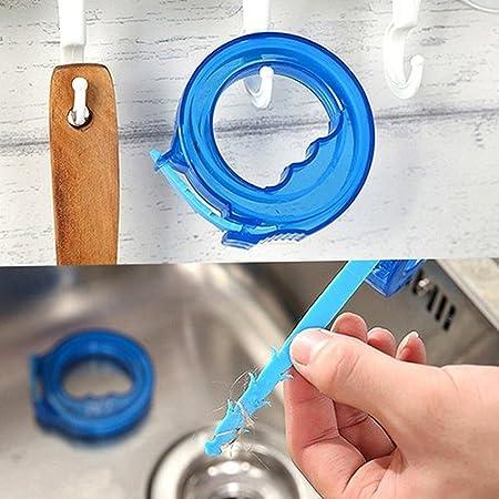 Feli546Bruce Drain Snake Hair Clog Remover Tool Flexible Barbed Drain Sink Snake Cleaner Bathroom Kitchen Clog Hair Remover Tub Drain and Kitchen Sink Unblocker Sticks