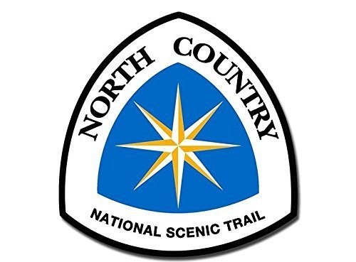 GHaynes Distributing North Country National Scenic Trail Sign Shaped Sticker Decal (hike hiking logo) Size: 4 x 4 inch ()