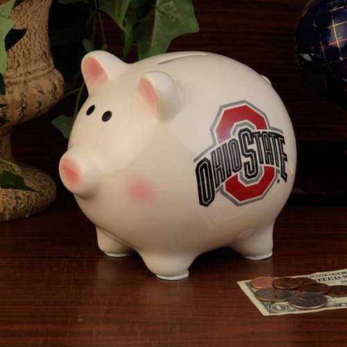 NCAA Ohio State University Official Team Piggy Bank, Multicolor, One (Ohio State Buckeyes Piggy Bank)