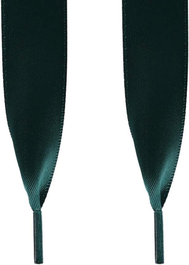 Large et Plat Vernis Une Paire de Lacets de Chaussures en Ruban de Soie pour Femme en Polyester Couleur Unie BEARCOLO