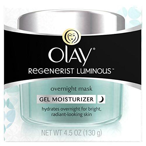 Olay Regenerist Luminous Overnight Facial Mask Gel Moisturizer, 4.5 oz