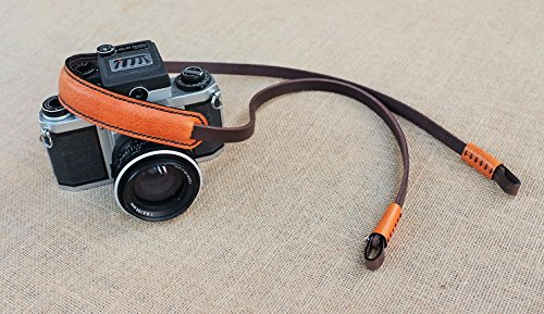 TorMake camera strap handmade neck strap Shoulder Strap from genuine leather Vintage style color Dark brown.leather is thick and soft for leica,canon,fuji ,Nikon,olympus,sony,Lumix,pentax Pentax Leather