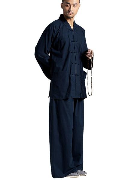 Amazon.com: katuo de los hombres Casual trajes yoga Taichi ...